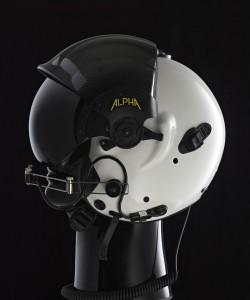 ALPHA Eagle helmet, gloss white.